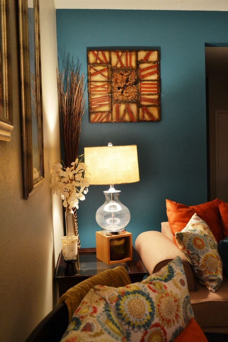 Accent Decor for Living Room Fresh Teal Accent Wall