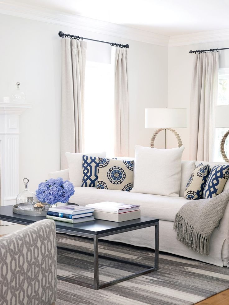 All White Living Room Decor Elegant Unique Blue and White Living Room Design Ideas