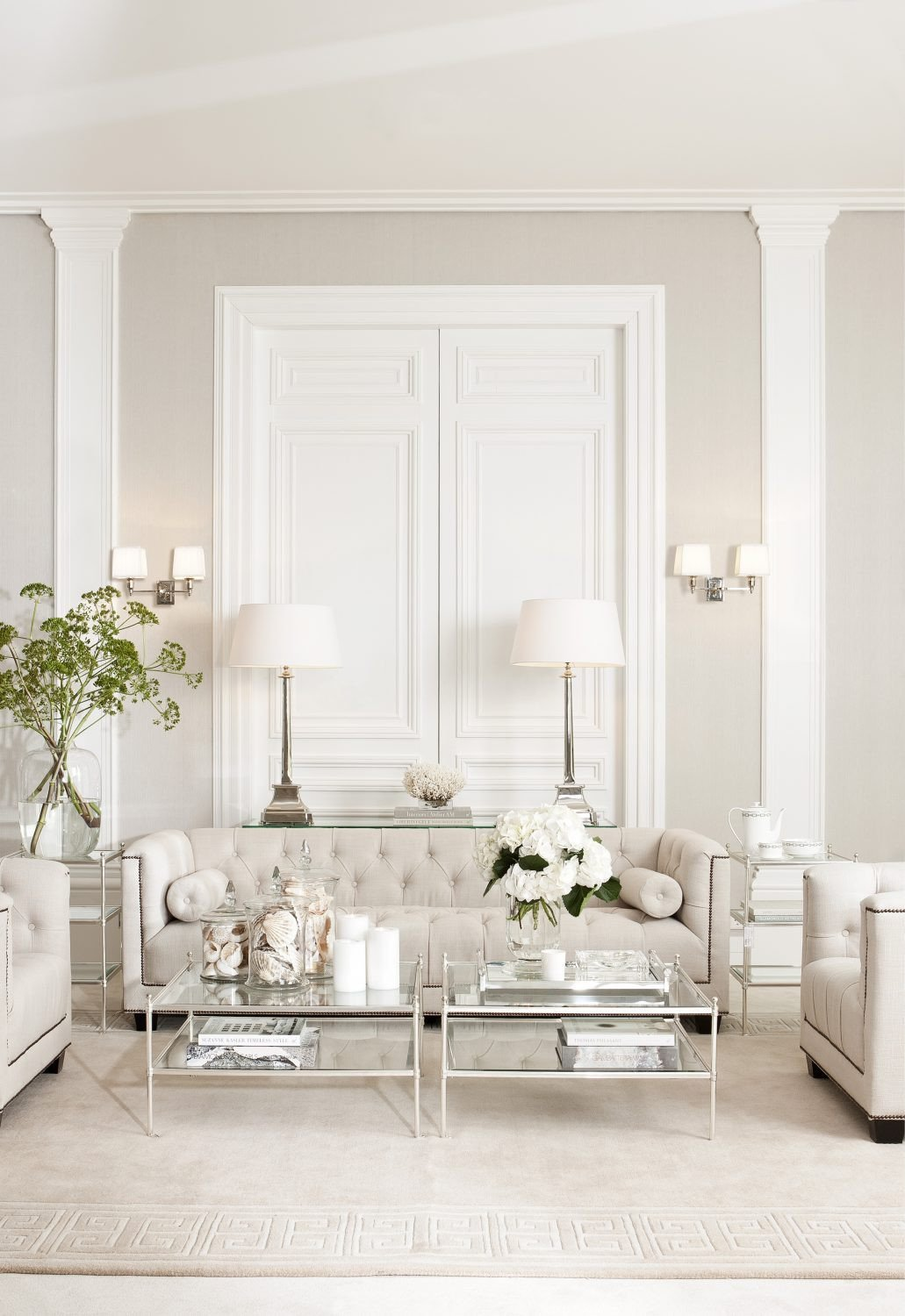 All White Living Room Decor New Color Trends Neutral Decorating Ideas