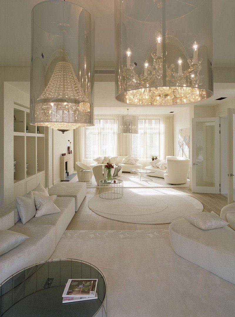 All White Living Room Decor New Crystal Embellished Home with F White Interior by Shh