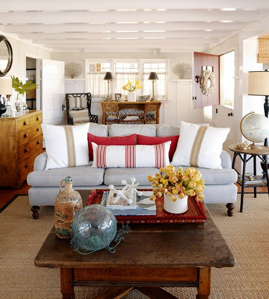Beach House Living Room Decor Best Of A Beach Cottage that S Black and White and Red All Over