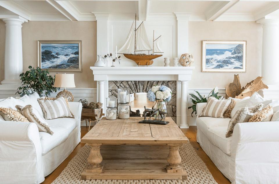Beach themed Living Room Decor Inspirational 20 Beautiful Beach House Living Room Ideas