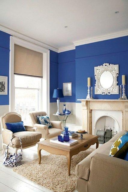 Blue Living Room Decor Ideas Awesome Bright Blue Living Room