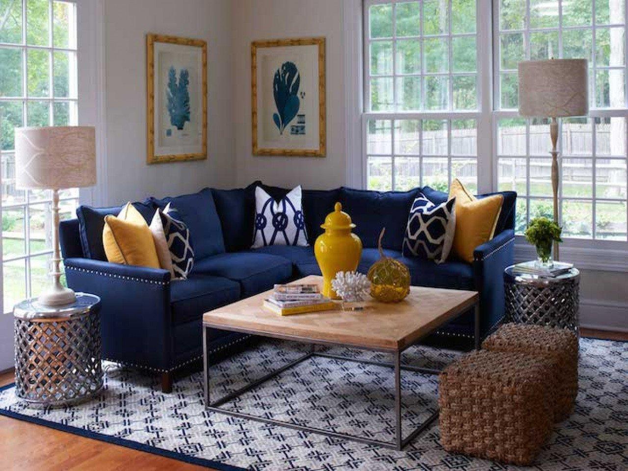 Blue Living Room Decor Ideas Beautiful Navy Blue Sectional sofa Navy Blue sofa Decorating Ideas