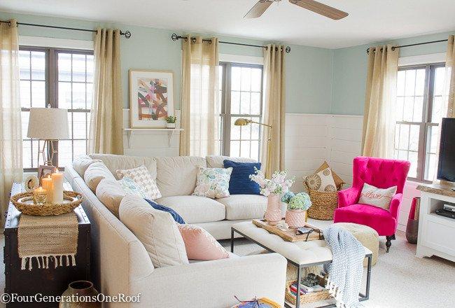 Blue Living Room Decor Ideas Elegant Blue Pink Living Room Decorating Ideas Four