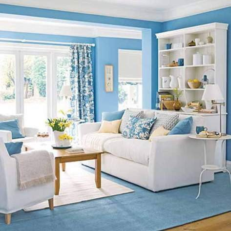 Blue living room decorating ideas Interior design
