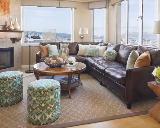 Brown Furniture Living Room Decor Beautiful Decorating Using Brown Leather Couches On Pinterest