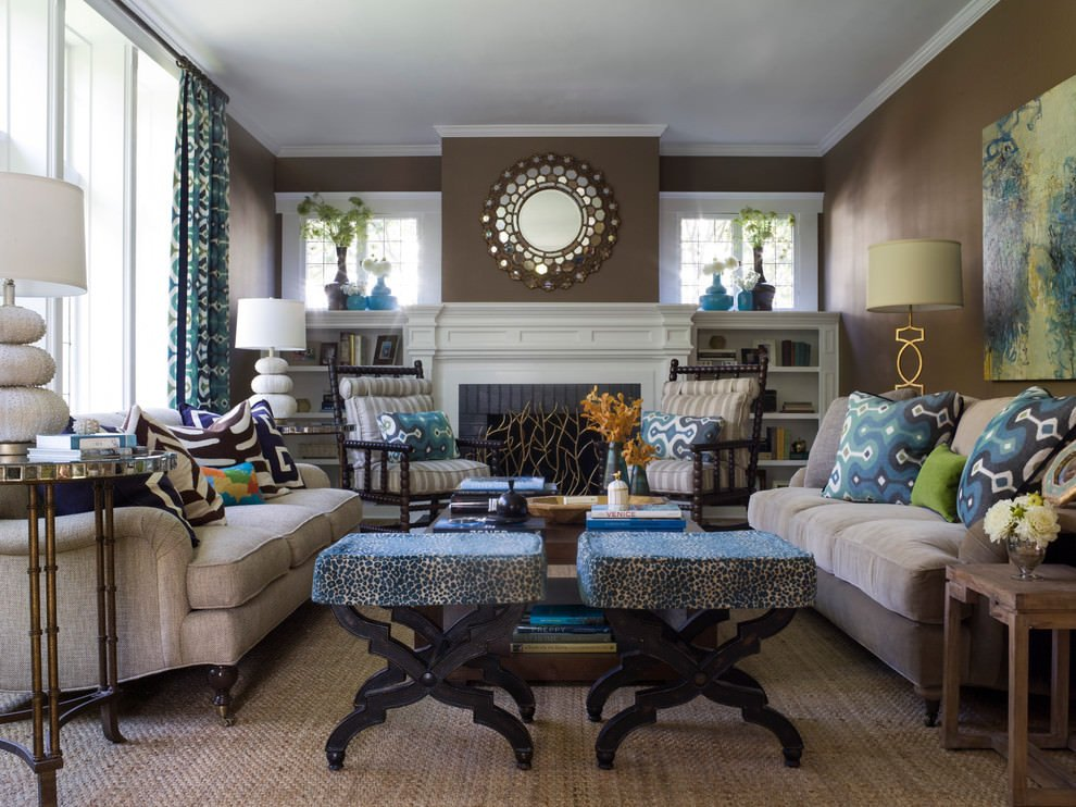 Brown Living Room Decor Ideas Awesome 20 Blue and Brown Living Room Designs Decorating Ideas