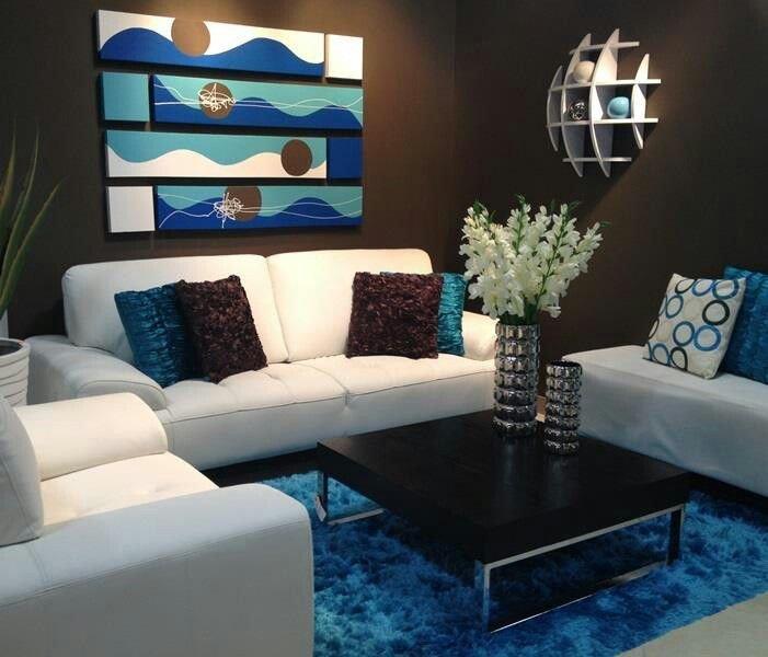 Brown Living Room Decor Ideas Lovely Love Blue N Brown