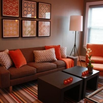 Brown Living Room Decor Ideas Luxury Living Room Brown and orange Design Remodel
