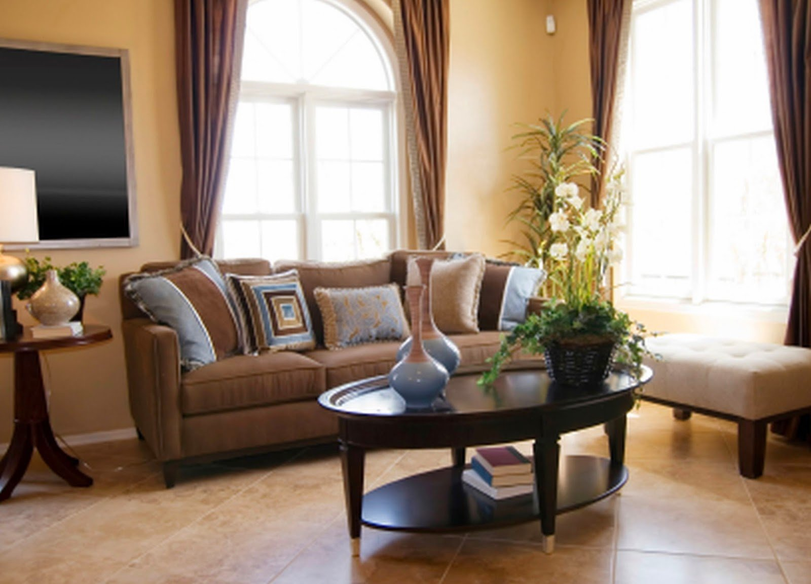 Brown Living Room Decor Ideas New 2 Living Room Decor Ideas Brown Leather sofa