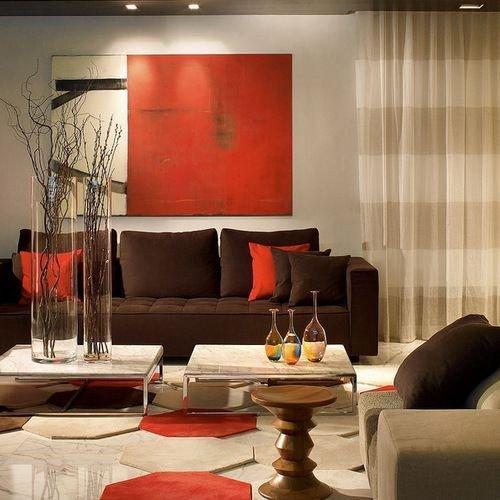 Brown Living Room Decor Ideas Unique 17 Best Ideas About orange Living Rooms On Pinterest