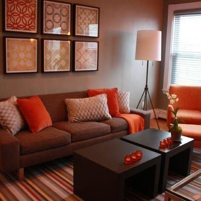 Brown sofa Living Room Decor Best Of Living Room Brown and orange Design Remodel