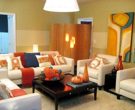 Burnt orange Living Room Decor Elegant Foundation Dezin & Decor Furnishing solutions