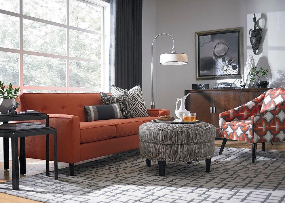 Burnt orange Living Room Decor Inspirational Burnt orange Light Gray for Tv Room