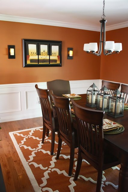 Burnt orange Living Room Decor Inspirational the Yellow Cape Cod before and after A Dining Room Design