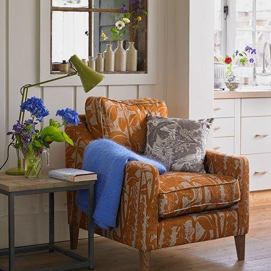 Burnt orange Living Room Decor Luxury Cream Living Room with Burnt orange Armchair