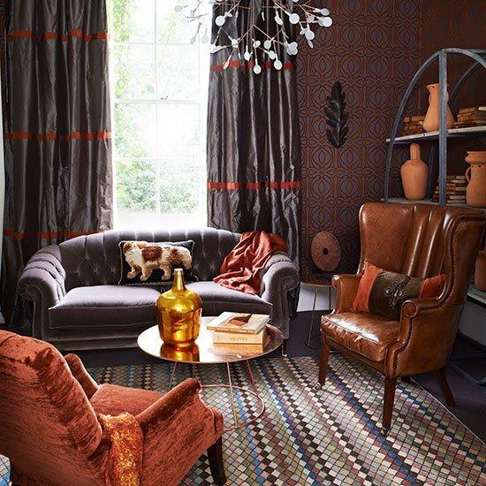 Burnt orange Living Room Decor Luxury Small Craft Room Ideas