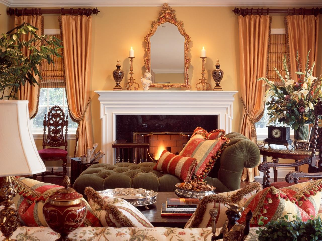Country themed Living Room Decor New Traditional Style 101 From Hgtv