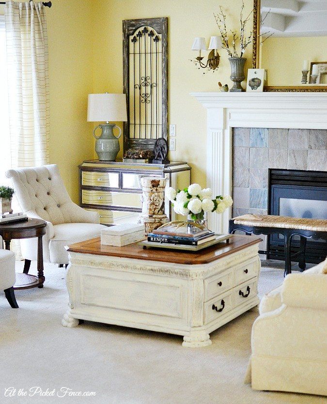French Country Living Room Decor Best Of Chalky Finish Coffee Table Makeover at the Picket Fence