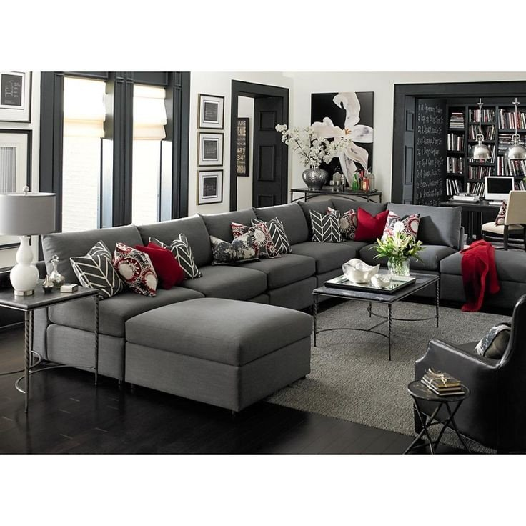 Grey sofa Living Room Decor Awesome Best 25 Gray Sectional sofas Ideas On Pinterest