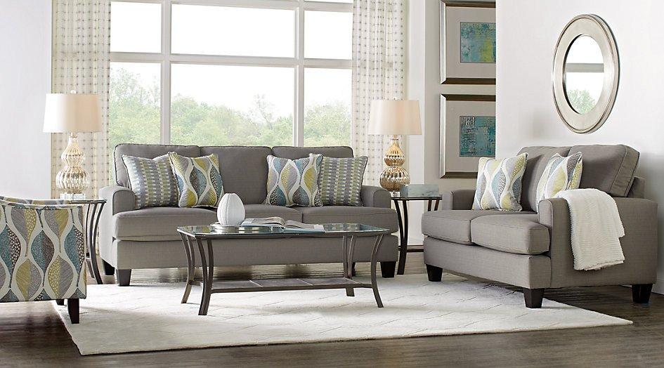 Grey sofa Living Room Decor Inspirational Cypress Gardens Gray 7 Pc Living Room Living Room Sets