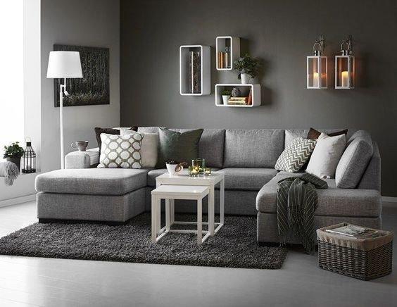 Grey sofa Living Room Decor Unique Best 25 Dark Grey Couches Ideas On Pinterest