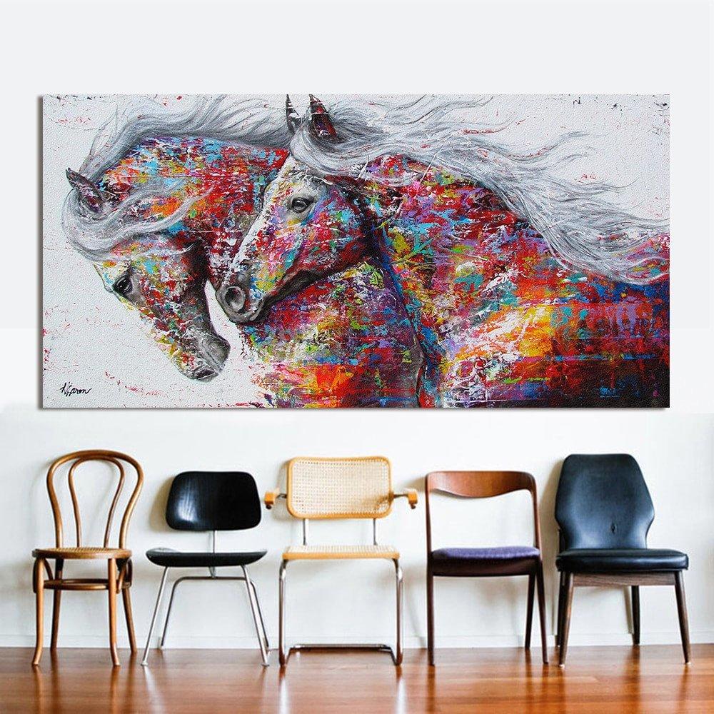 Horse Decor for Living Room Luxury Hdartisan Animal Wall Art for Living Room Home