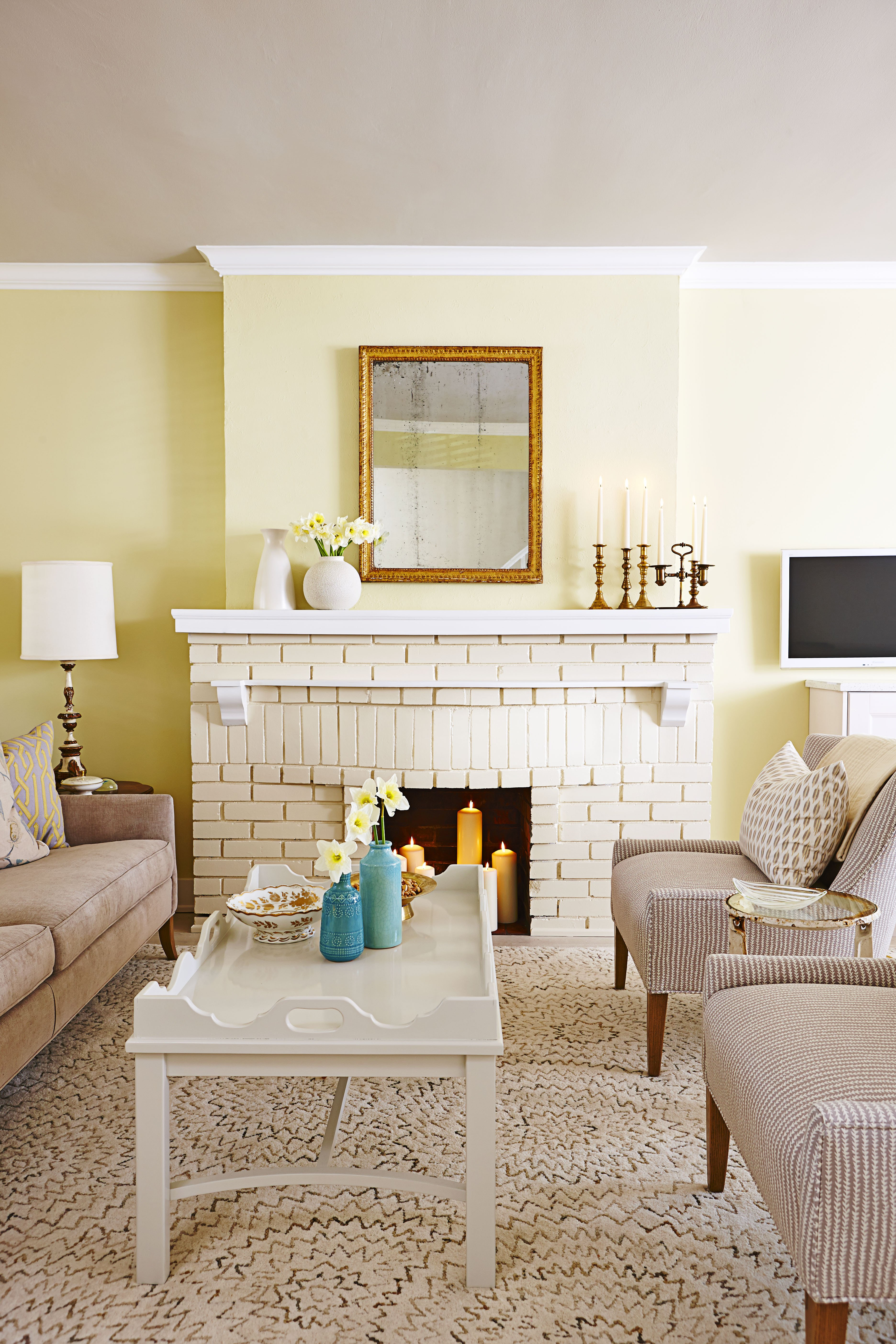 Living Room Decor with Fireplace Beautiful Design Tricks From Sarah Richardson Sunny Serene House tour