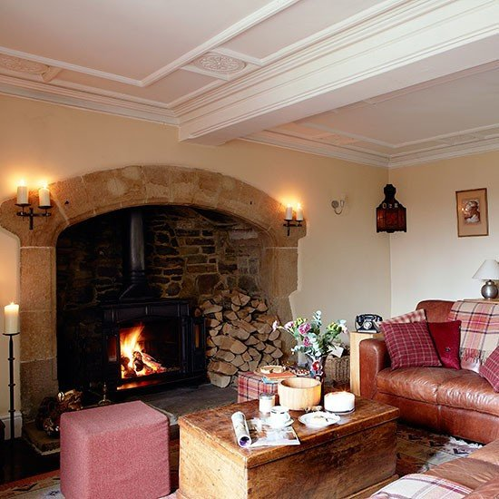 Living Room Decor with Fireplace Lovely Country Living Room with Inglenook Fireplace