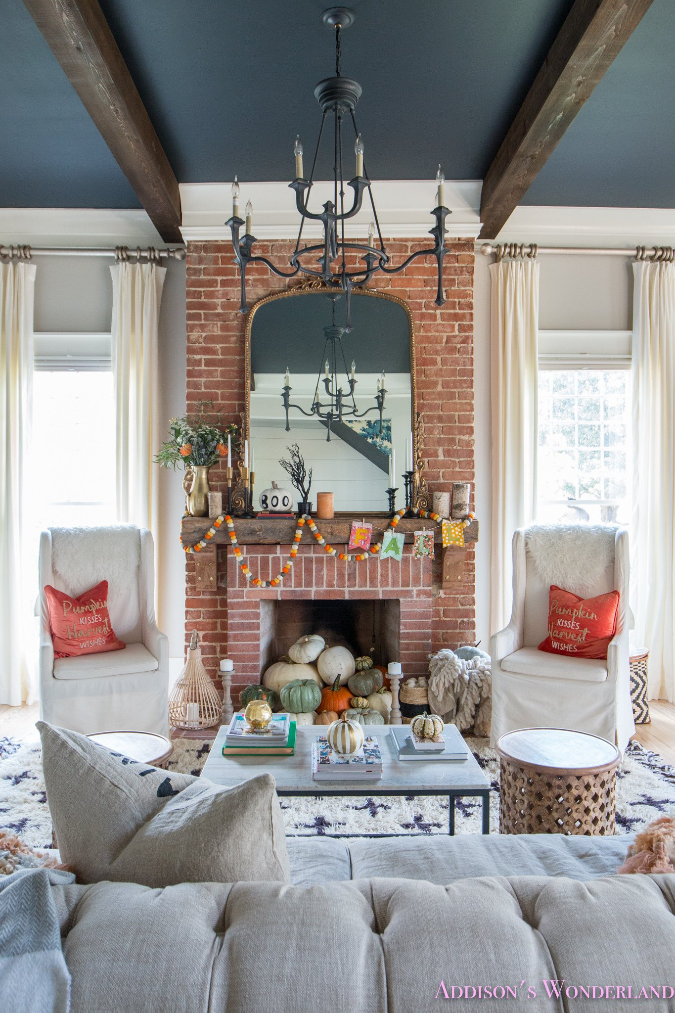 Living Room Decor with Fireplace Unique Our Fall & Halloween Living Room Decor W Mantle Ideas