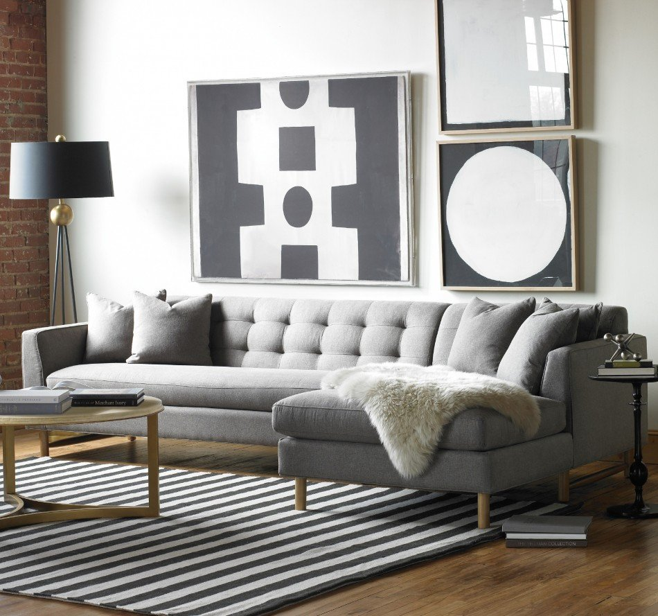 Living Room Decor with Sectional Elegant Designing Rooms with An L Shaped sofa
