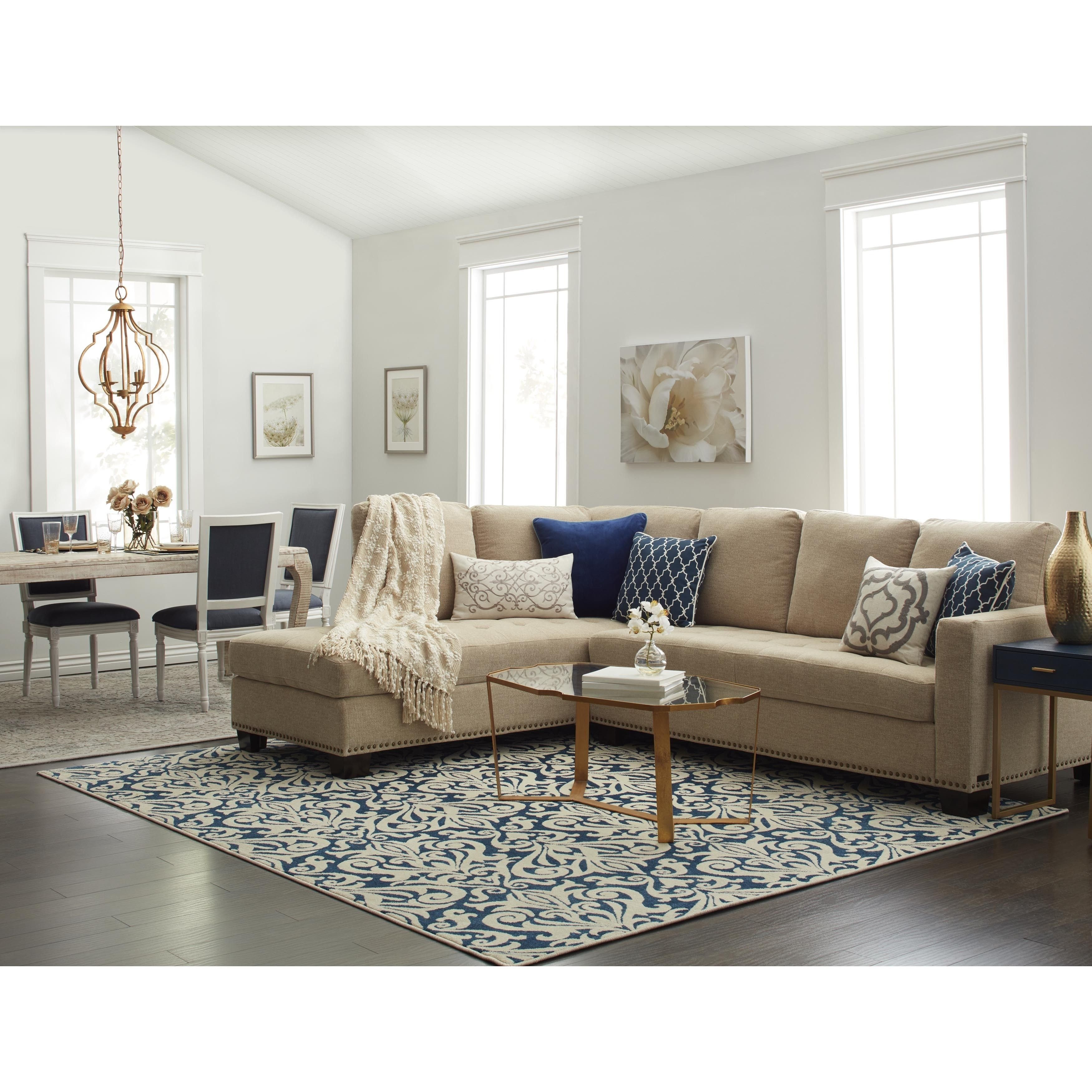 Living Room Decor with Sectional Inspirational Abbyson Claridge Fabric Sectional In 2019