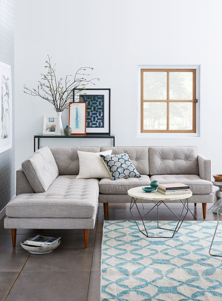Living Room Decor with Sectional Inspirational Sectional sofas Simplified West Elm Archives