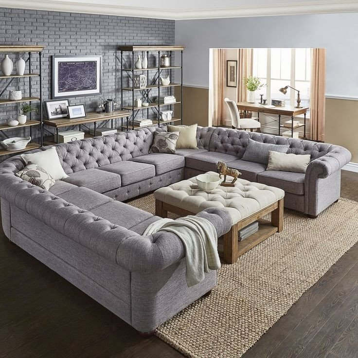 Living Room Decor with Sectional Lovely Gowans Sectional Collection In 2019 Basement