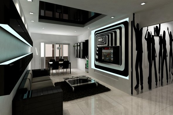 Living Room Ideas Black Awesome 20 Wonderful Black and White Contemporary Living Room Designs