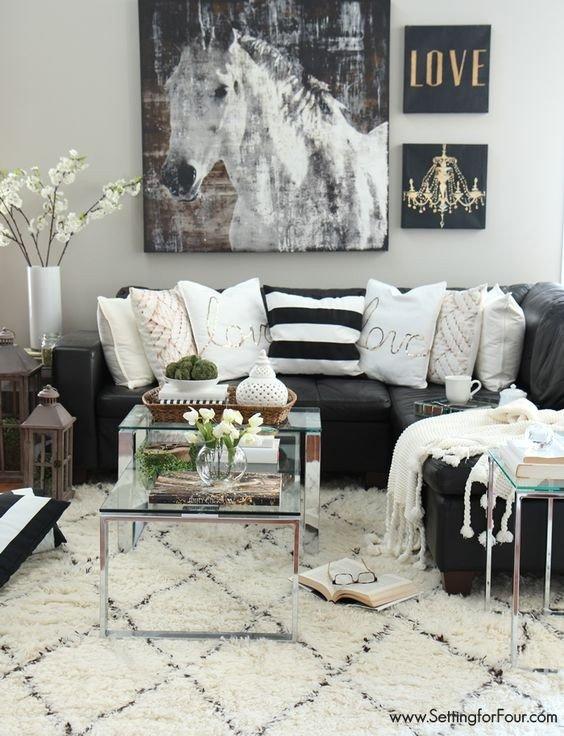 Living Room Ideas Black Best Of 48 Black and White Living Room Ideas Decoholic