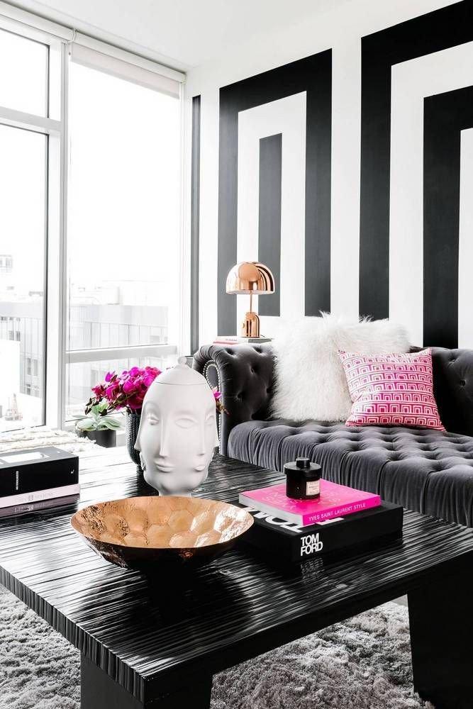 Living Room Ideas Black Elegant Black and White Modern Home Decor Ideas Living