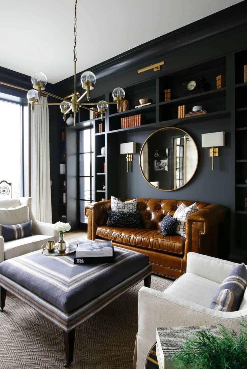 Living Room Ideas Black New 28 Gorgeous Living Rooms with Black Walls that Create Cozy