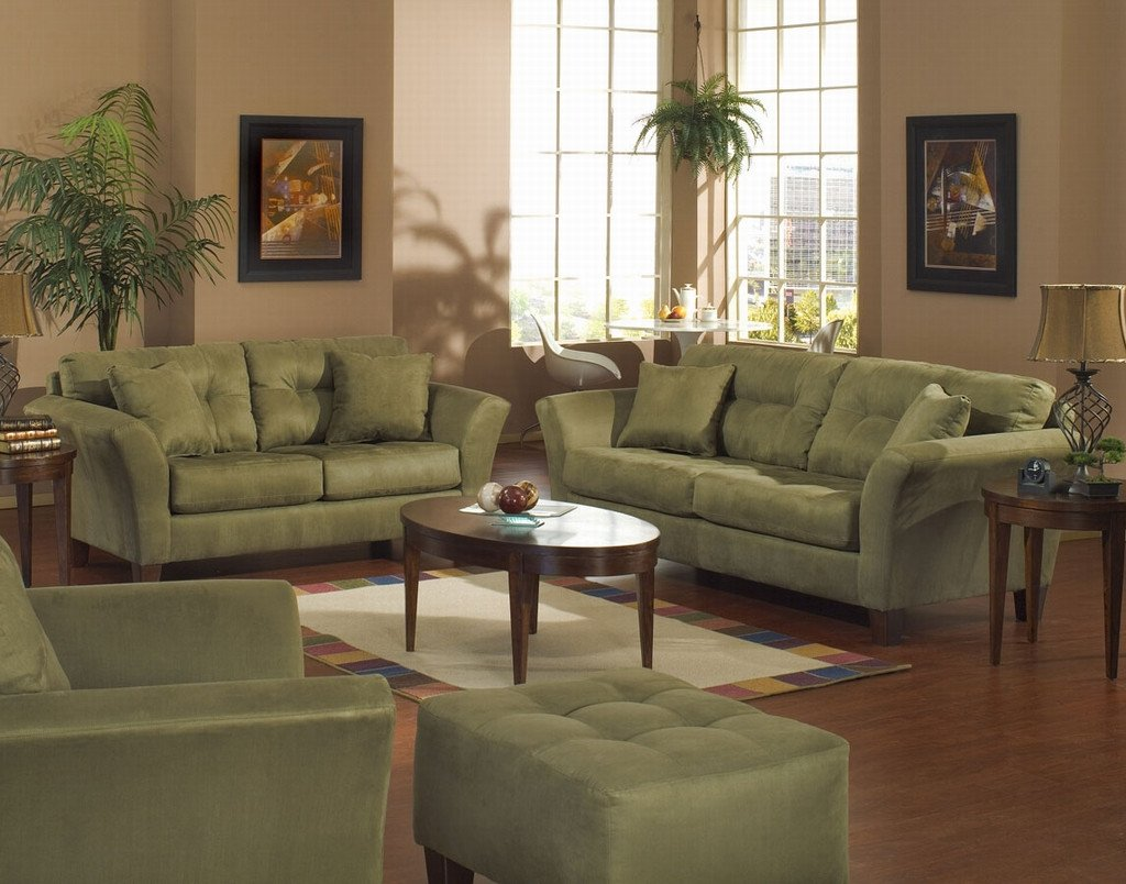 Living Room Ideas Furniture Awesome Green sofa Style