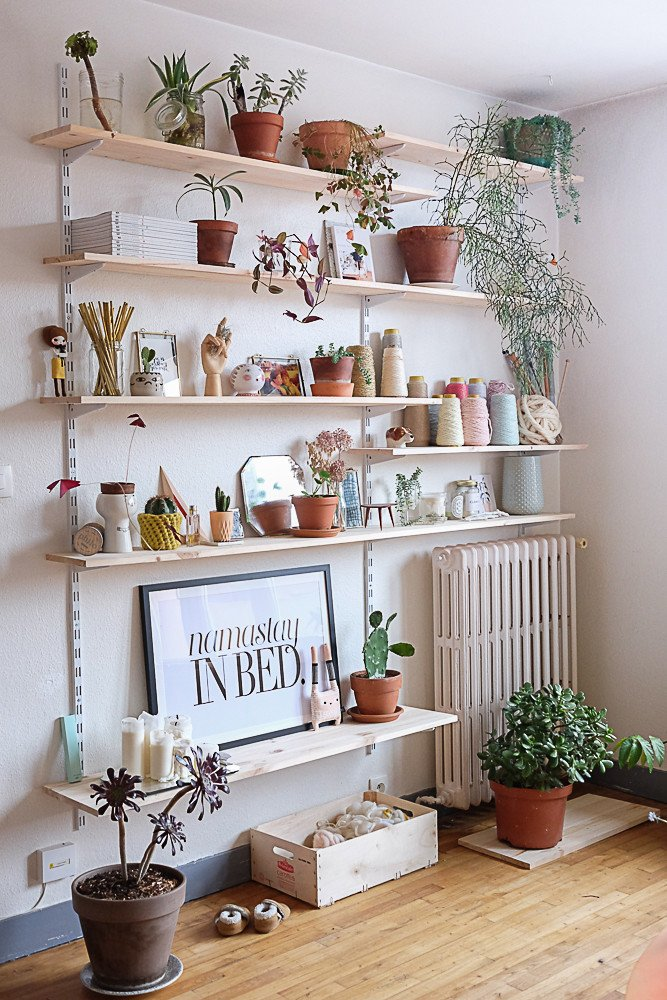 Living Room Ideas Shelves Awesome 7 Different Way to Indoor Plants Decoration Ideas In