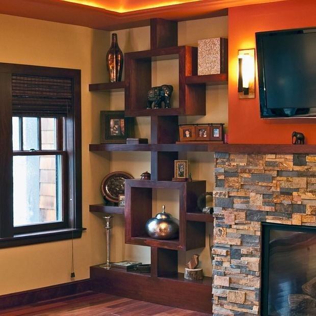 Living Room Ideas Shelves Lovely Custom Made Built In Shelving Unit Stained Cherry
