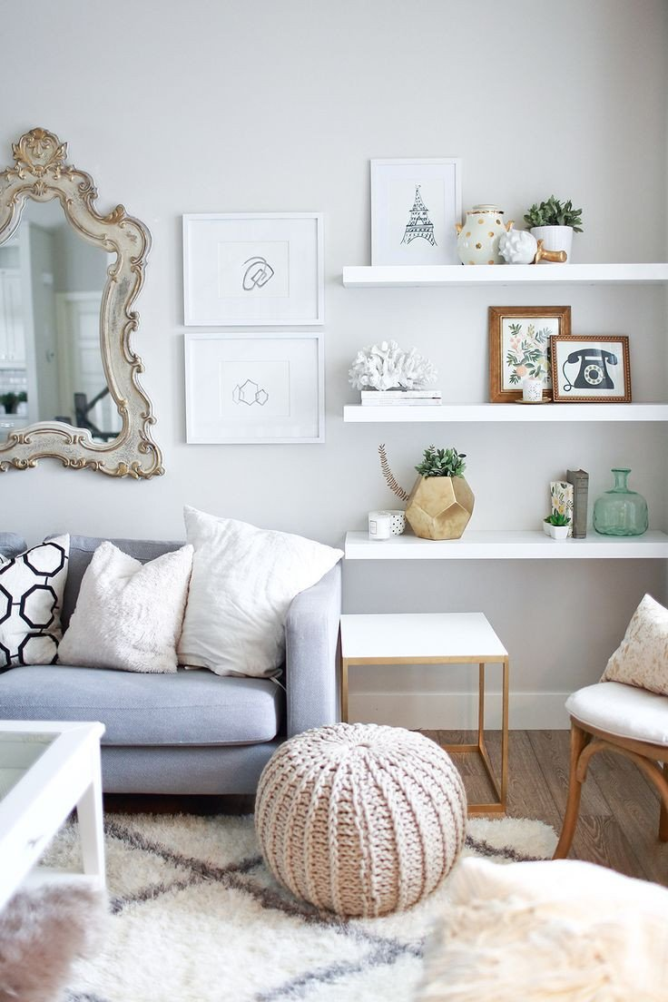 Living Room Ideas Shelves Luxury 10 Ways to Work with Floating White Shelves
