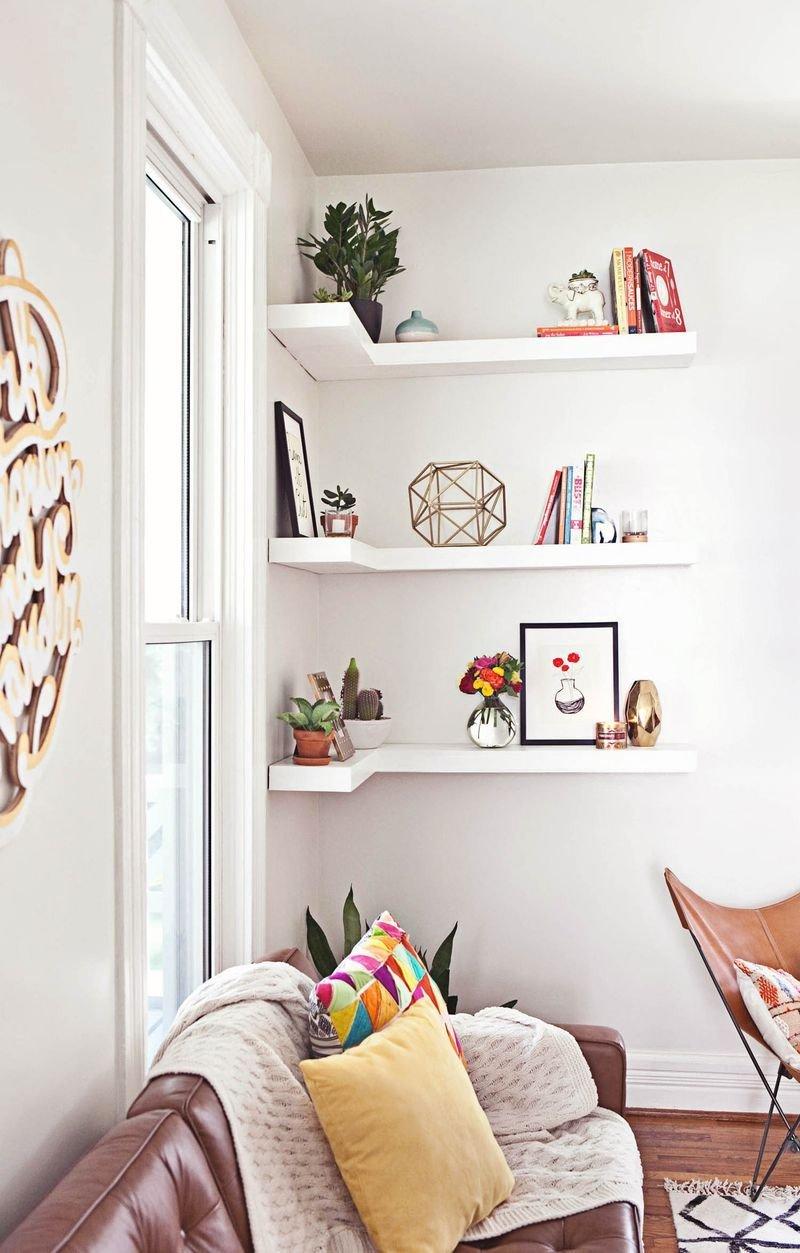 Living Room Ideas Shelves Unique How to Style Decorative Shelves