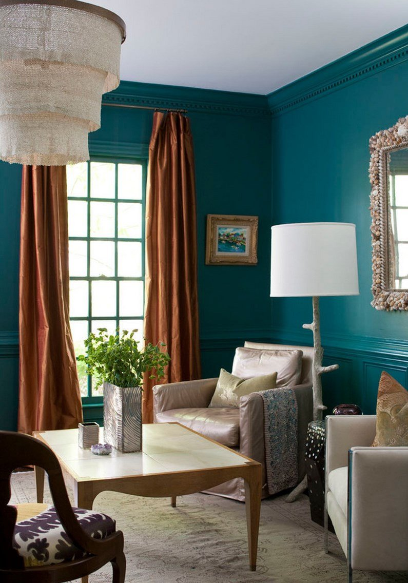 Living Room Ideas Teal Elegant Painting and Design Tips for Dark Room Colors