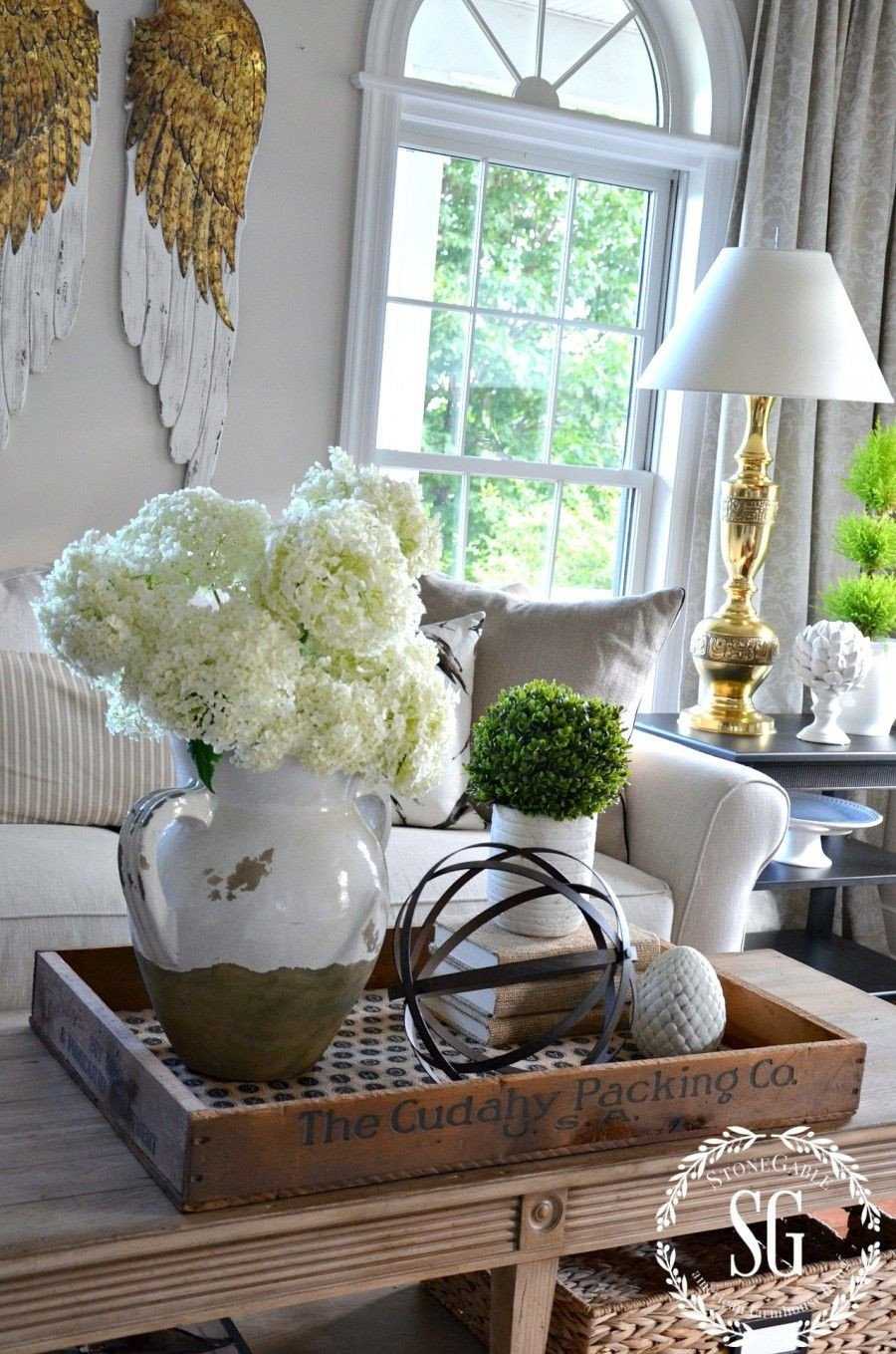 Living Room Table Decor Ideas Awesome Bhome Summer Open House tour Home Decor
