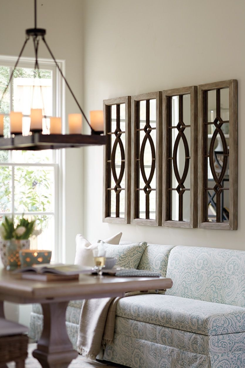Living Room Wall Decor Ideas Awesome Decorating with Architectural Mirrors
