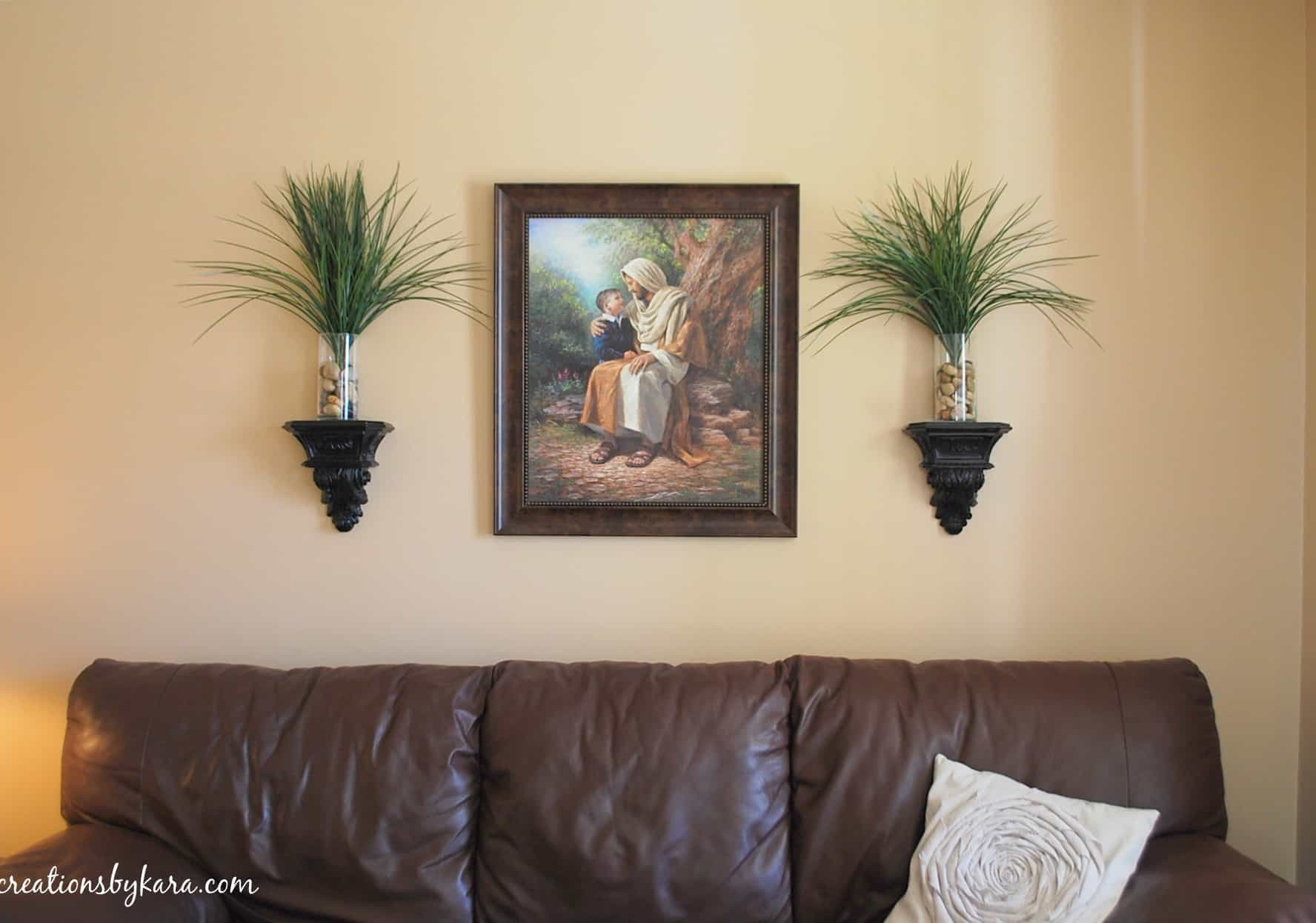 Living Room Wall Decor Ideas Awesome Hanging Wood Trim In My Living Room