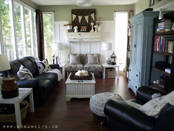 Modern Country Decor Living Room Awesome Fall Mantel & 2012 Living Room