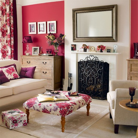 Modern Country Decor Living Room New Berry Accents Living Room